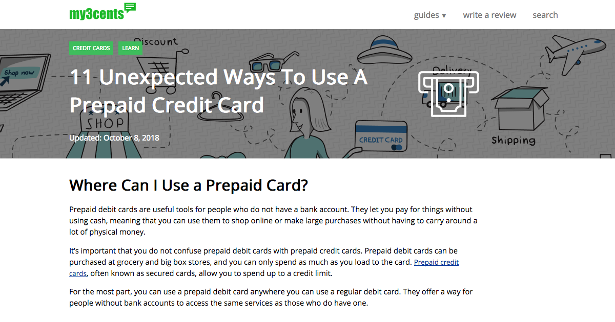 11 Unexpected Ways to Use Prepaid Debit Cards | My3cents com