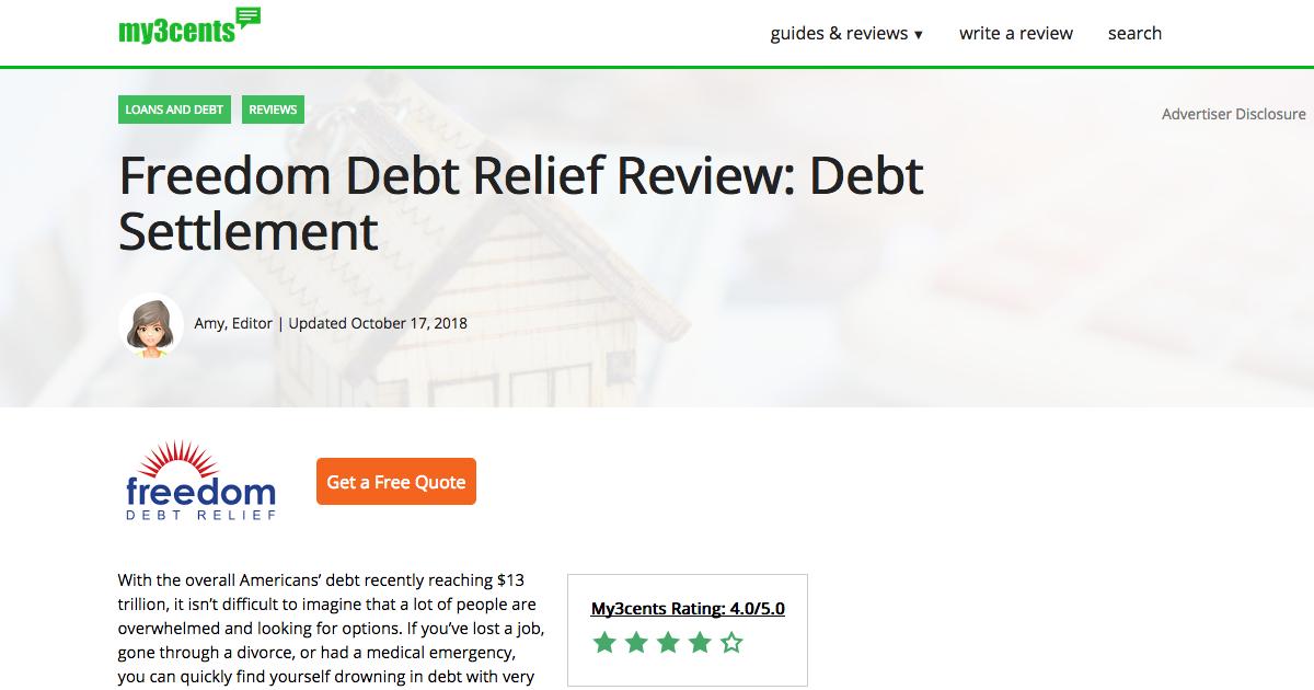 debt relief order reviews