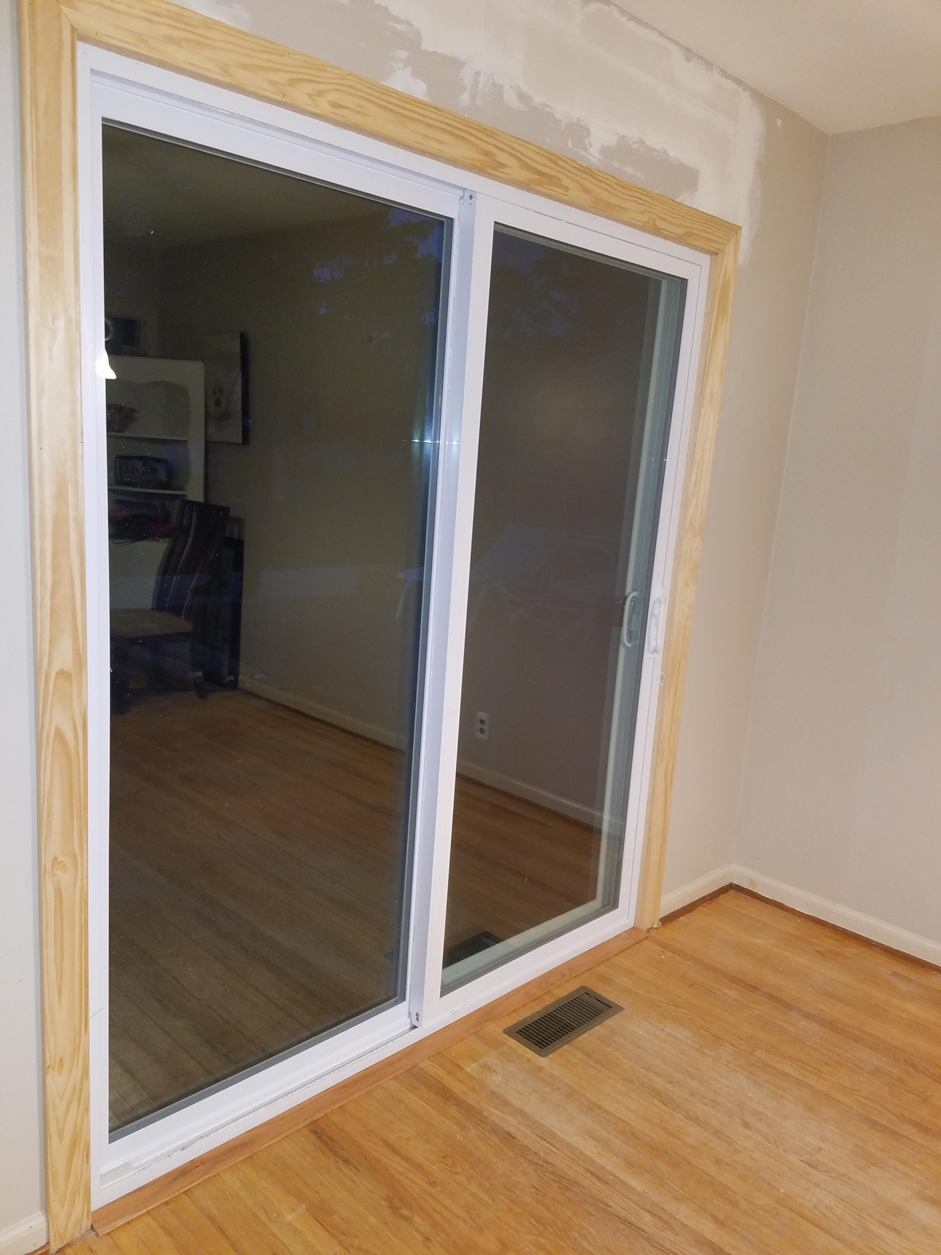 The Door Slides Nicely And Looks Great Even Better I Can Open My Kitchen Window T Thank Guys At Erie Construction Enough