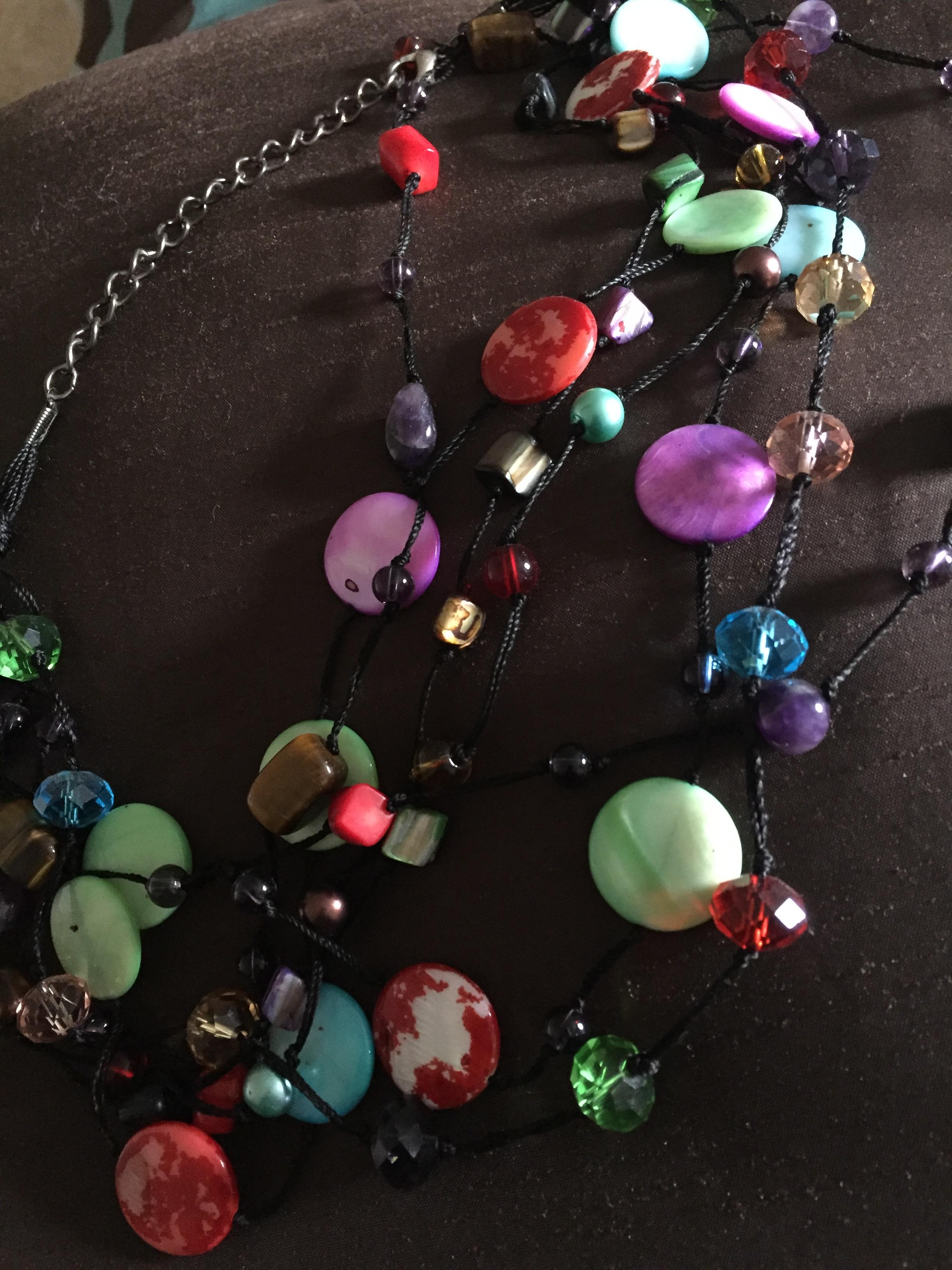 The Bracelet Is Tarnished And Charms Fell Off Paint Ling Colorful Necklace My Costume Jewelry From Lasted Longer
