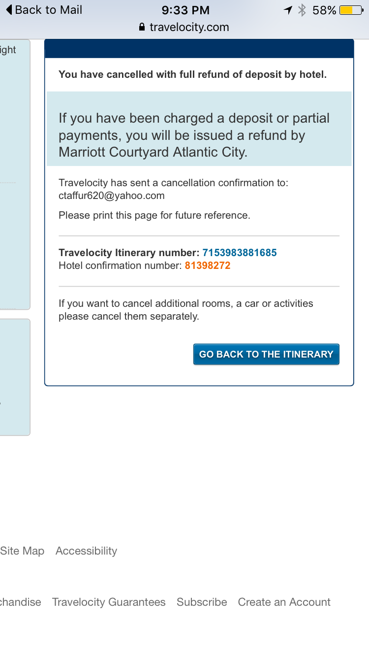 All They Said Was Sorry For The Inconvenience So Here I Am Short 444 46 Thanks To Travelocity S Discrepancy With Courtyard Hotel