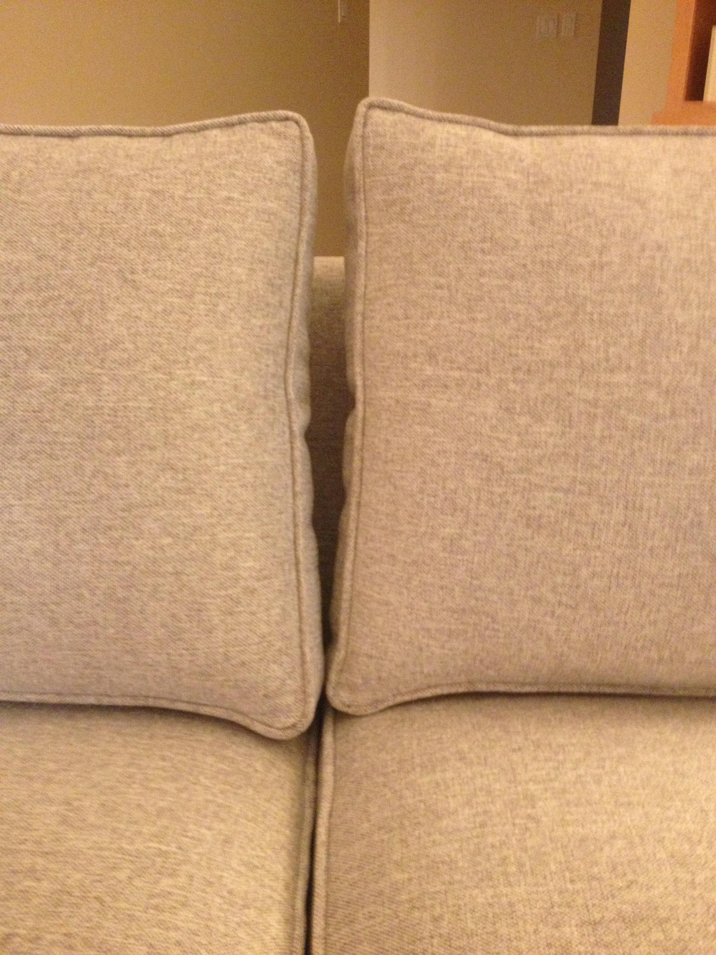 Genial ... Different Sizes, Back Cushions Did Not Fit Well Along Back Of Couch   2  Inches Between Each Cushion, Batting Not Even In Various Places Along Frame.